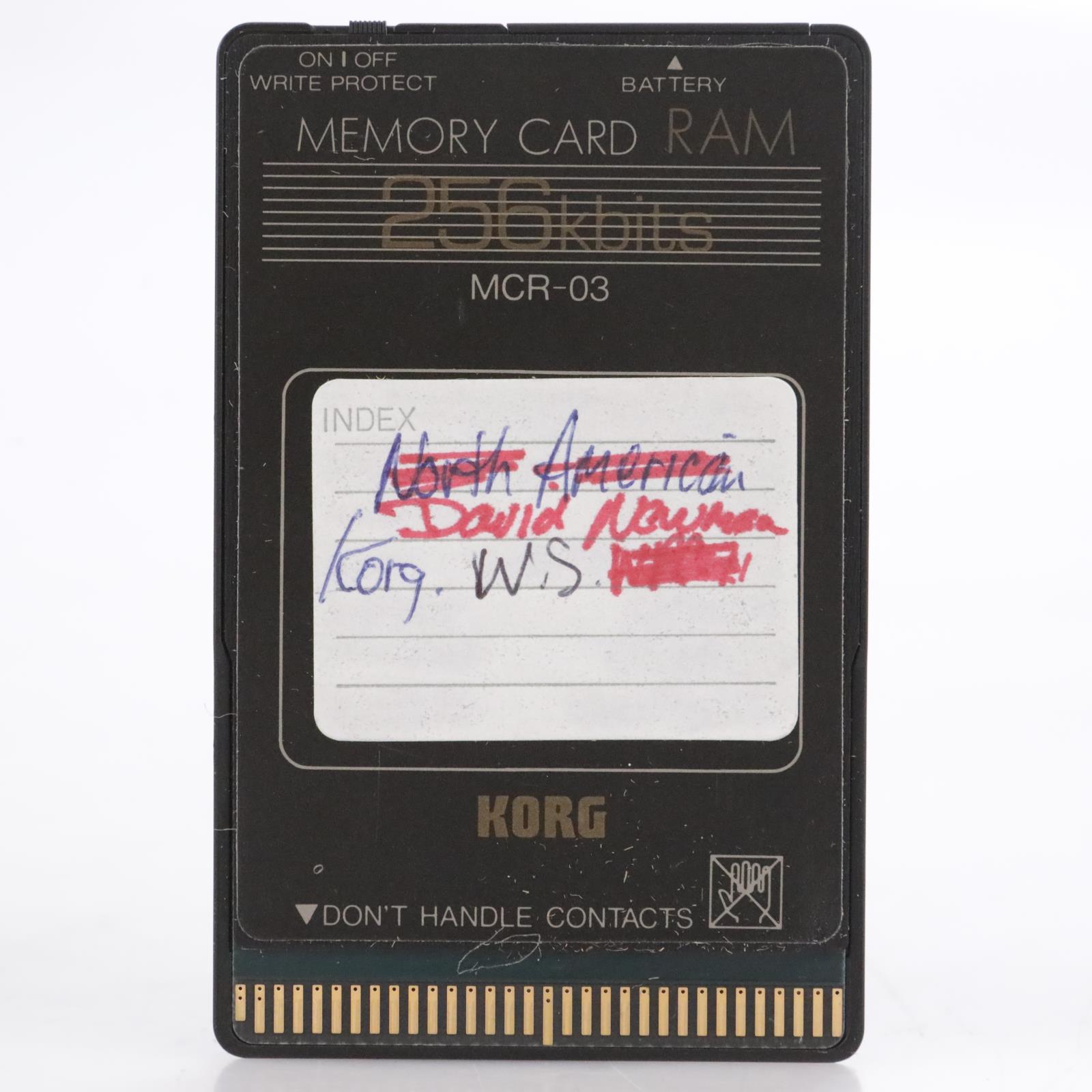 Korg MCR-03 256Kb RAM Memory Card for Wavestation #44193