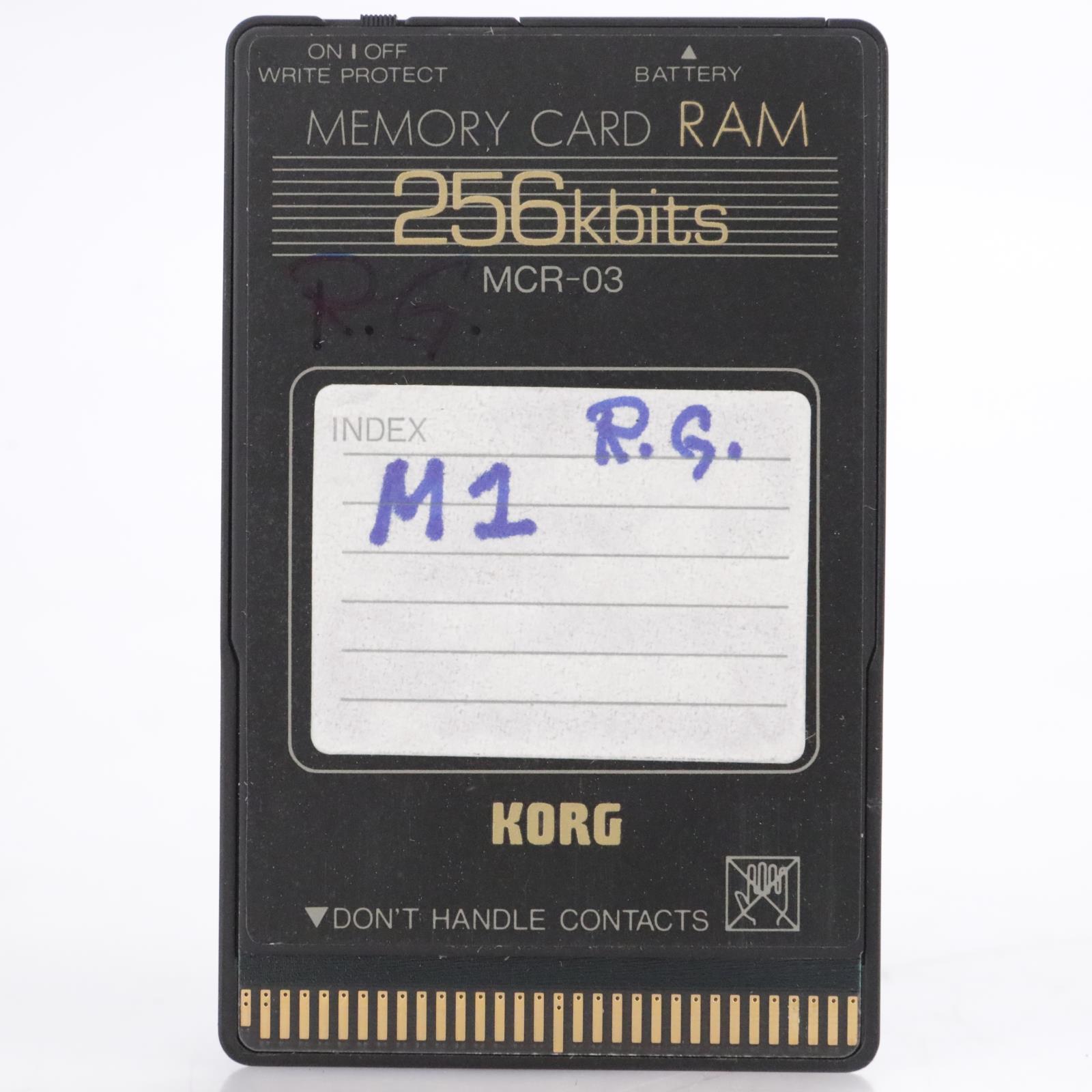 Korg MCR-03 256Kb RAM Memory Card for Korg M1 #44195