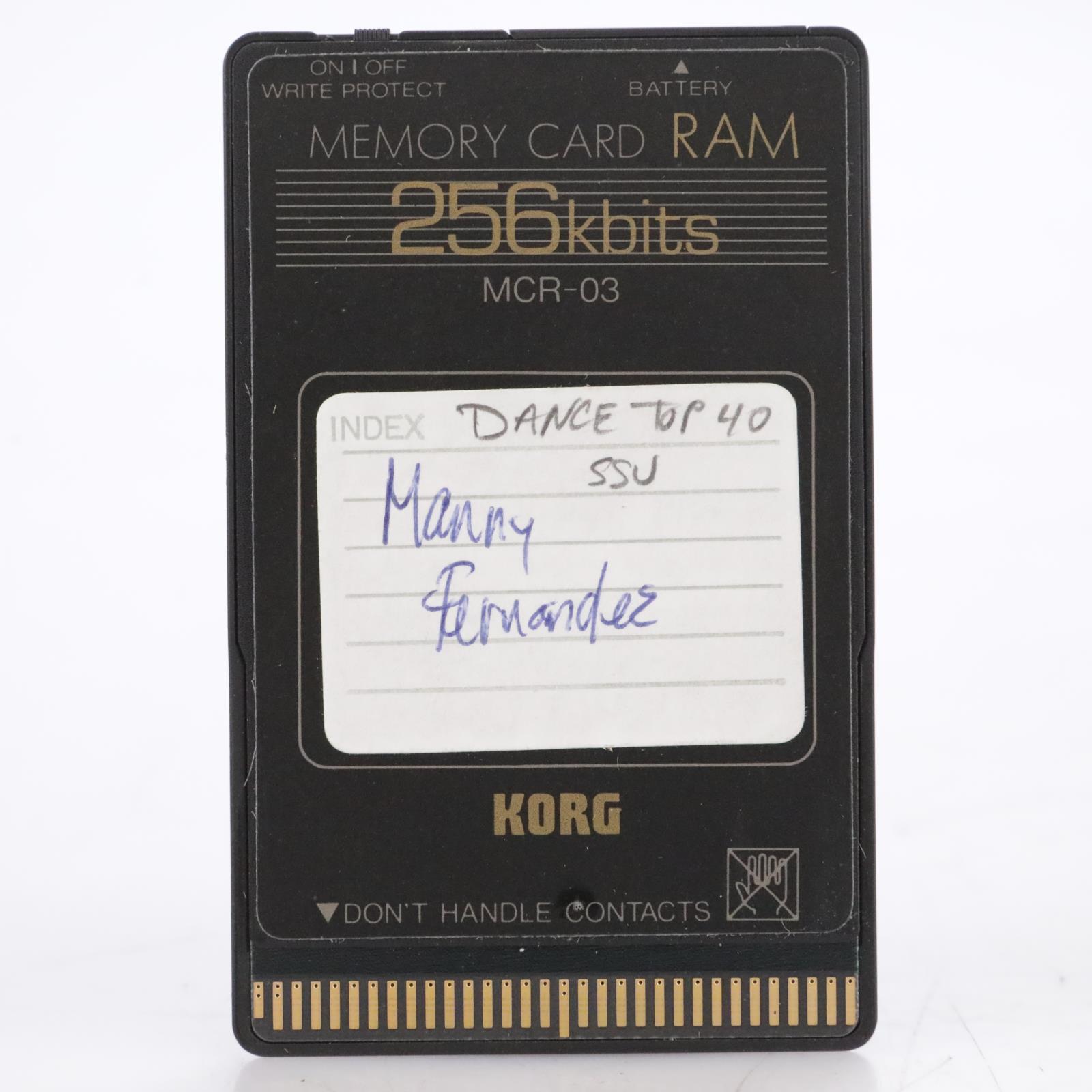 Korg MCR-03 256Kbits Dance Top 40 SSU RAM Memory Card #44189