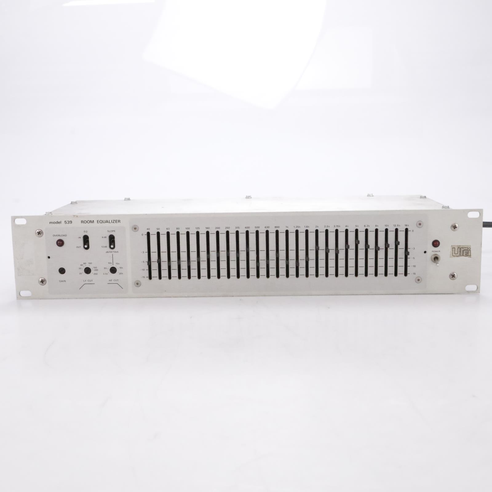 UREI 539 27-Band One-Third Octave Room Graphic Equalizer EQ Rack #44047