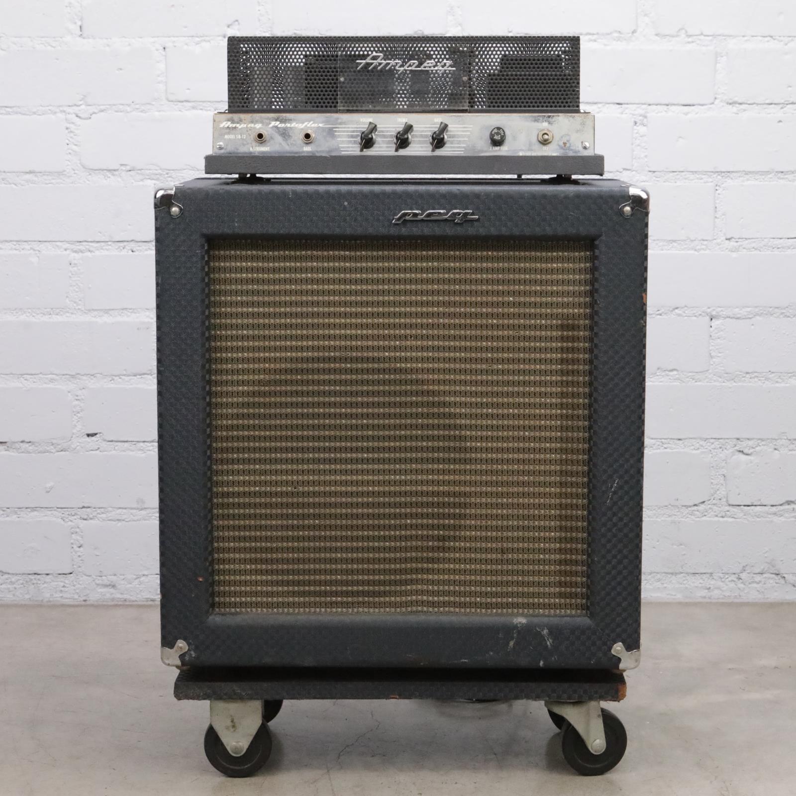 """1967 Ampeg SB-12 Portaflex 2-Ch 25-Watt 1x12"""" Fliptop Guitar Combo #44186"""