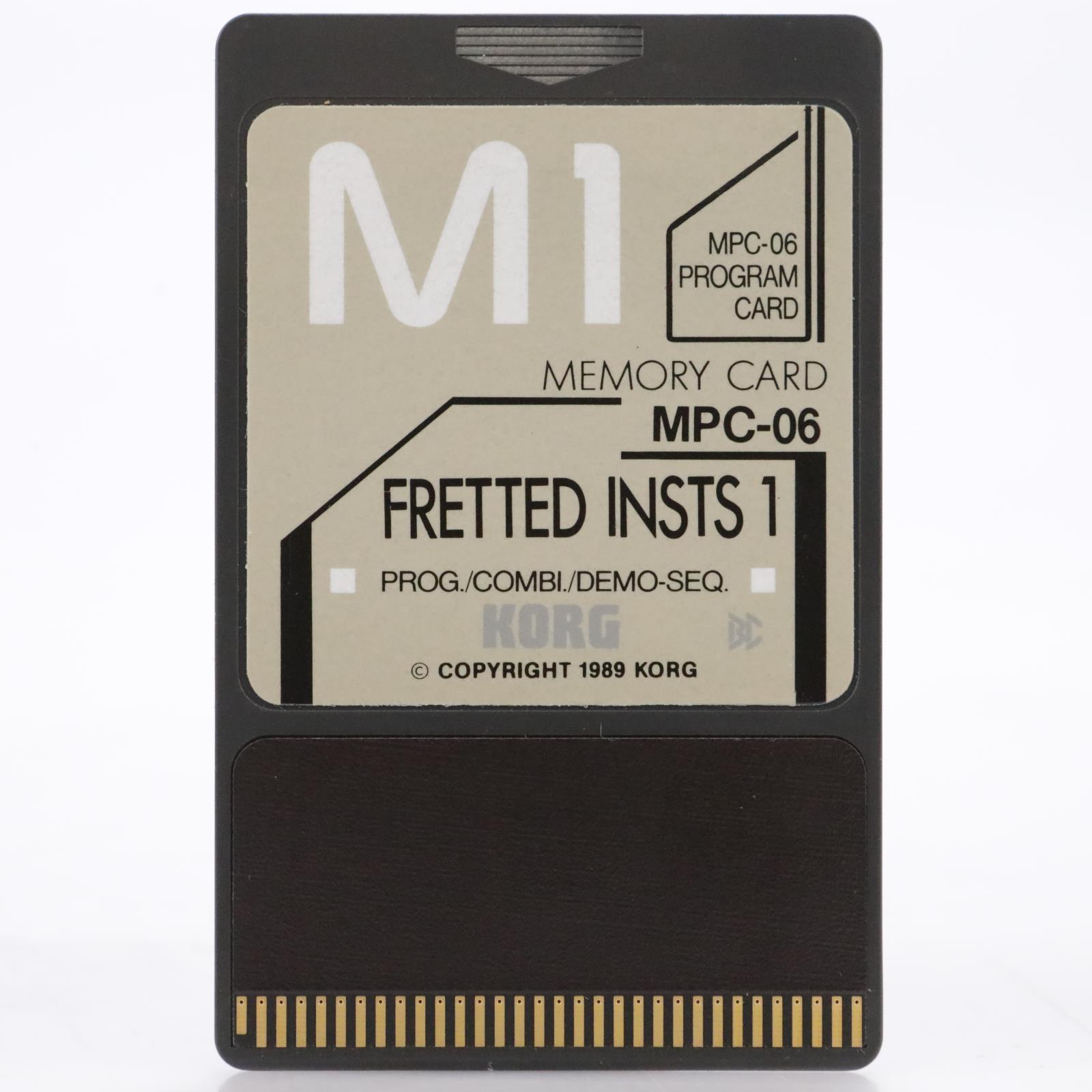 Korg MPC-06 Fretted Insts 1 Program ROM Card for Korg M1 #44179