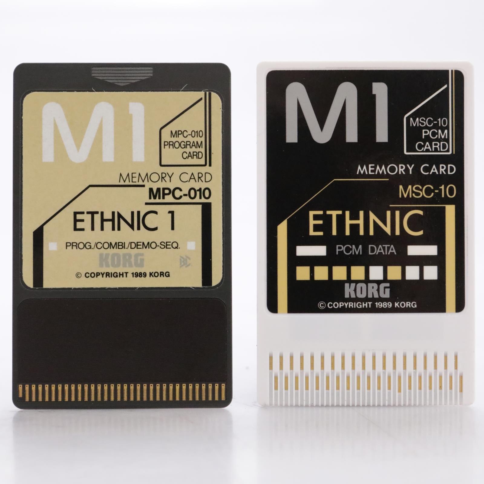 Korg MSC-10S / MSC-010 Ethnic 1 PCM Data Cards for Korg M1 #44180