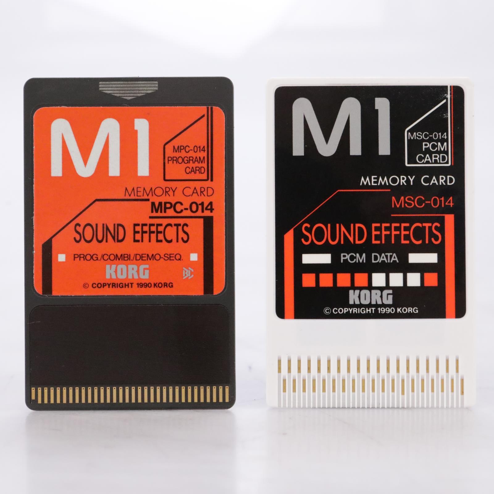 Korg MSC-14S / MSC-014 Sound Effects PCM Data Cards for Korg M1 #44176