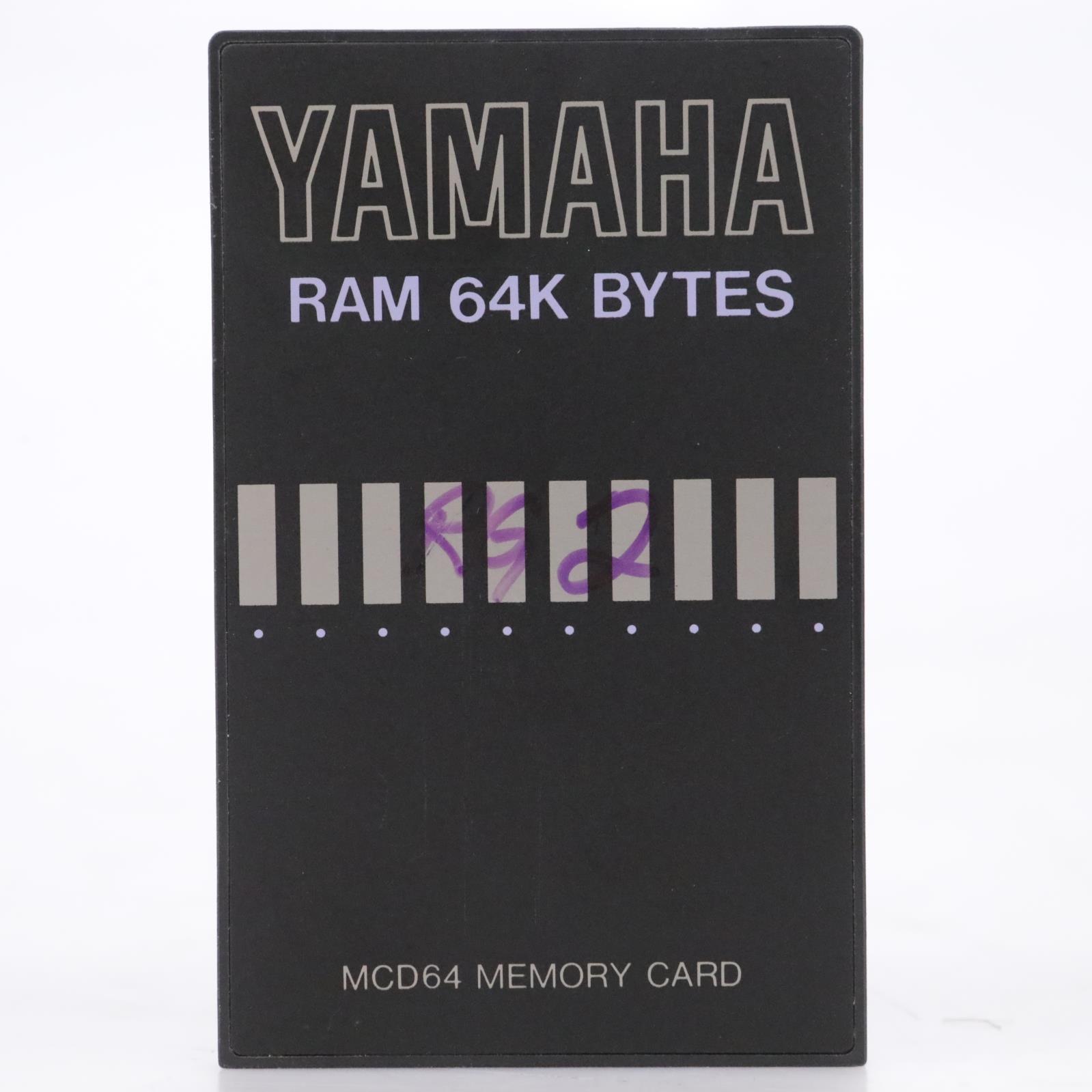 Yamaha MCD64 RAM 64K Bytes Memory Card #44181