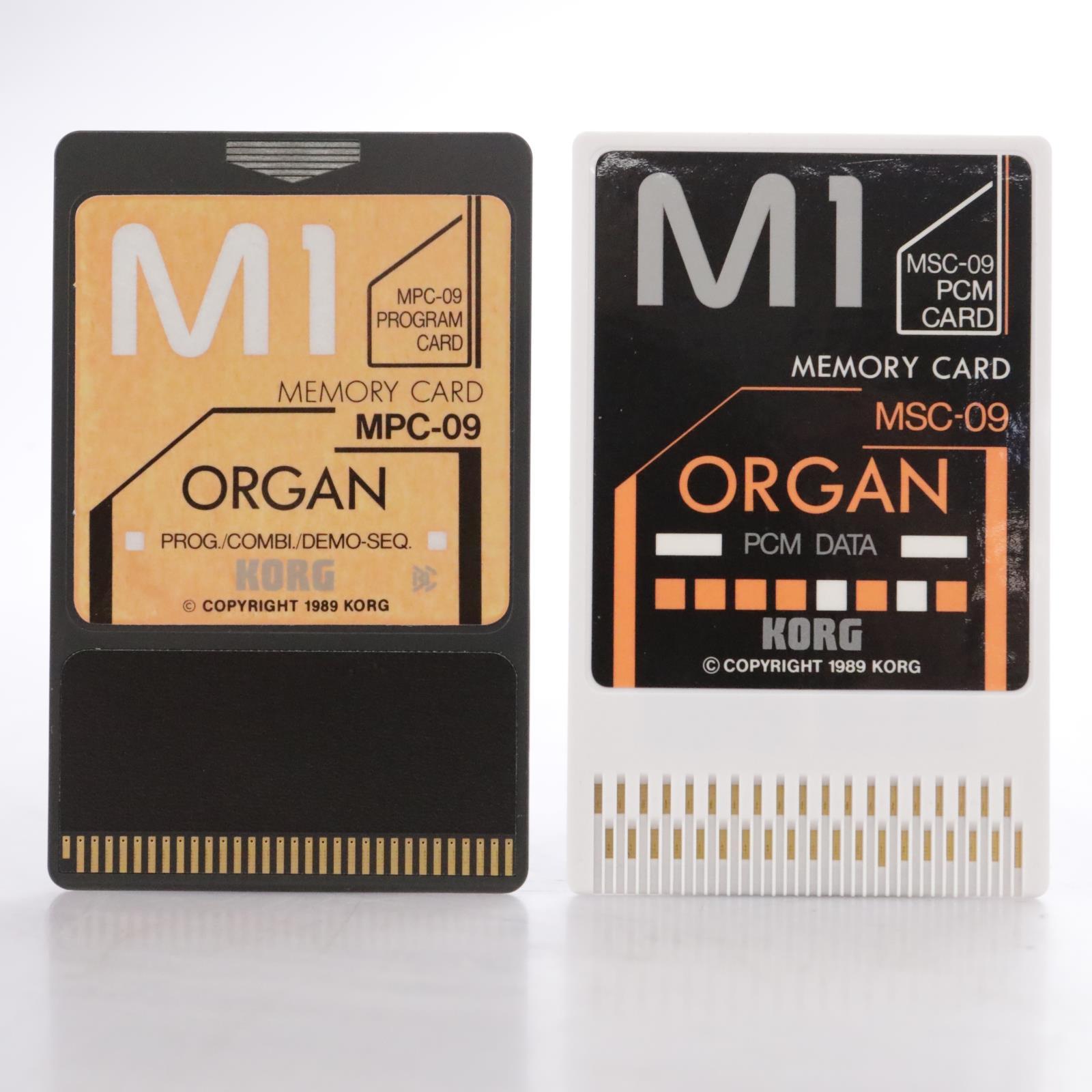 Korg MSC-9S / MSC-09 Organ PCM Data Cards for Korg M1 #44172