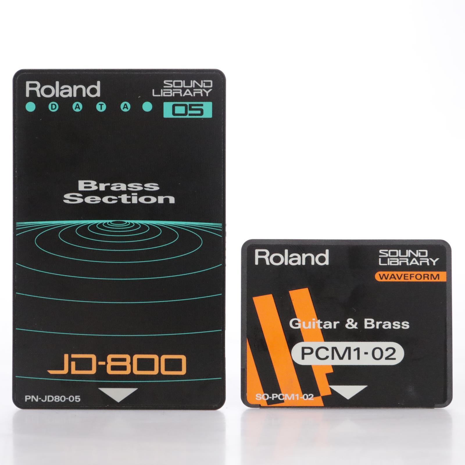 Roland PN-JD80-05 Brass Data & PCM1-02 Guitar Wave Cards Roland JD-800 #44236