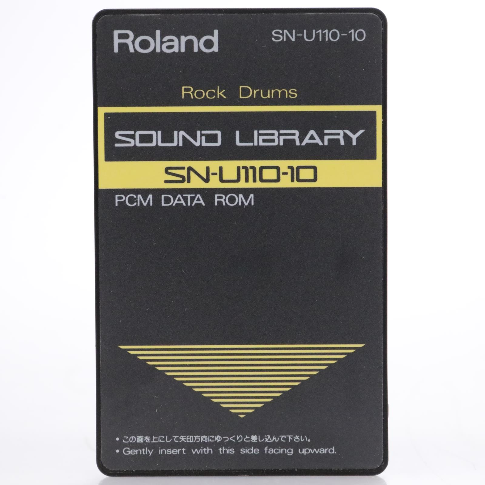 Roland SN-U110-10 Rock Drums PCM Data Card #44163