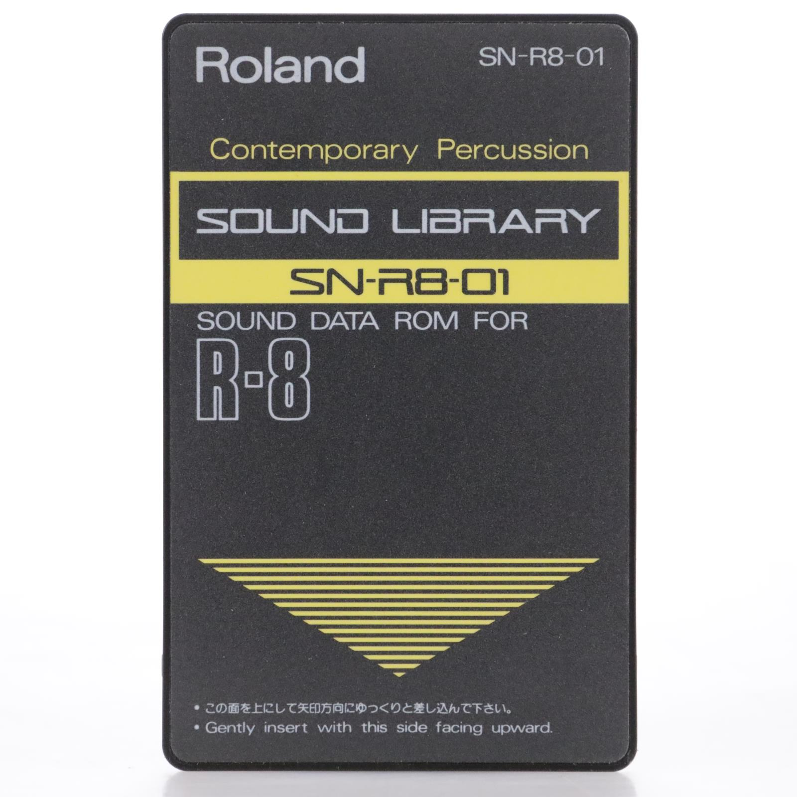 Roland SN-R8-01 Contemporary Percussion Sound Data ROM Card for R-8 #44152