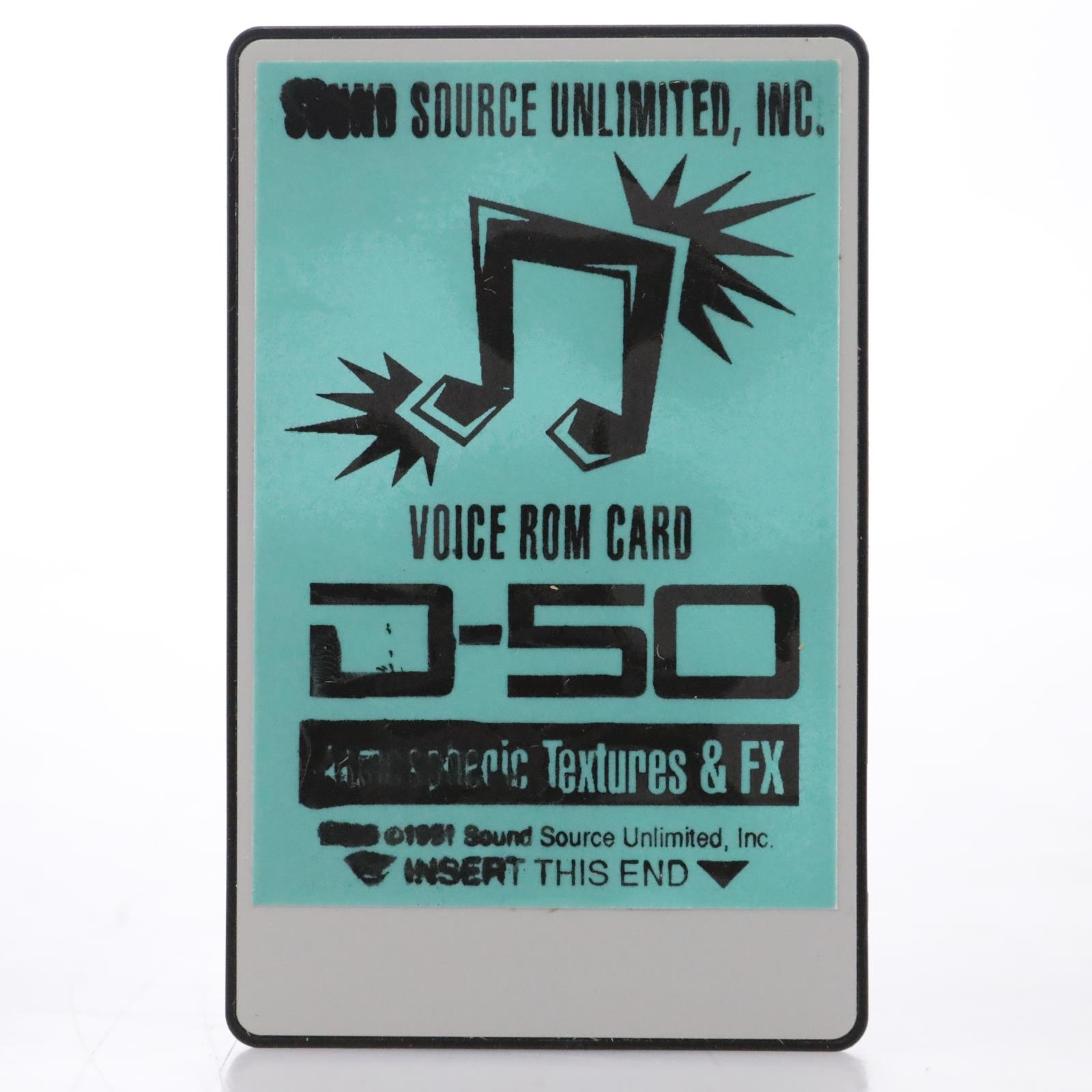 Sound Source Unlimited D-50 Atmospheric Textures & FX Voice ROM Card #44124