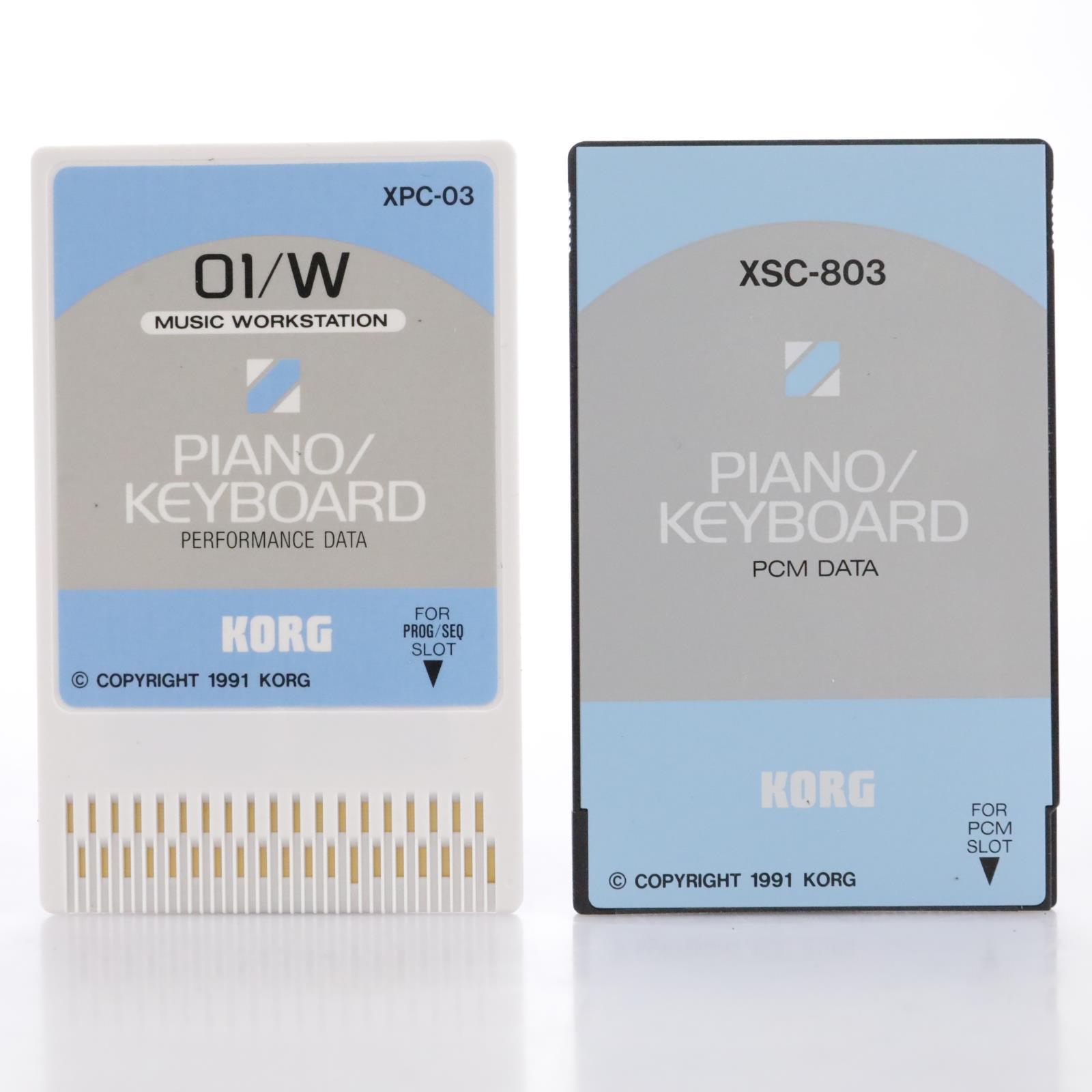 Korg XSC-3S O1/W Piano/Keyboard Performance Data Sound Cards w/Case #44147