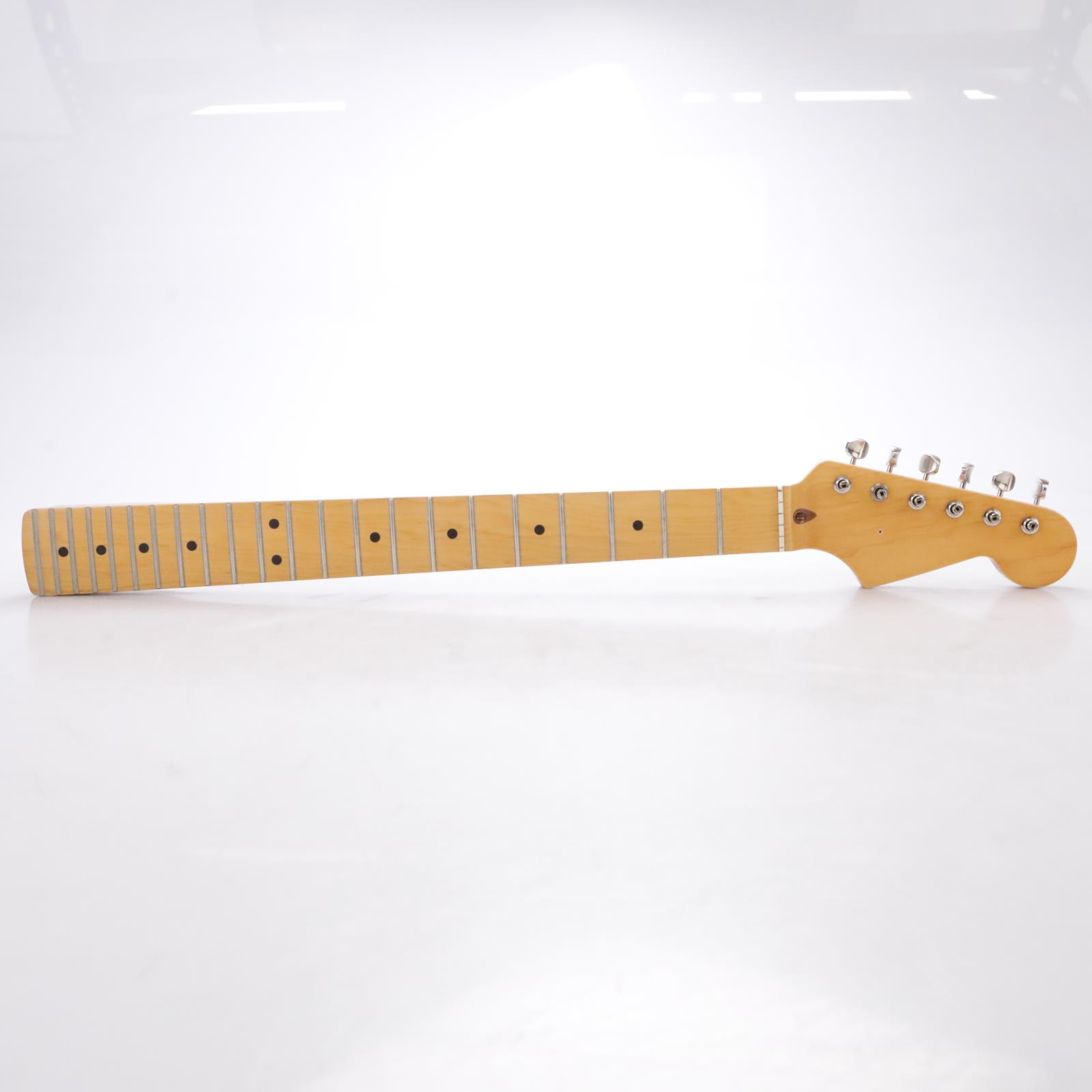 "Warmoth ""59 Roundback"" 22 Fret Maple Stratocaster Neck w/Tuners #44295"