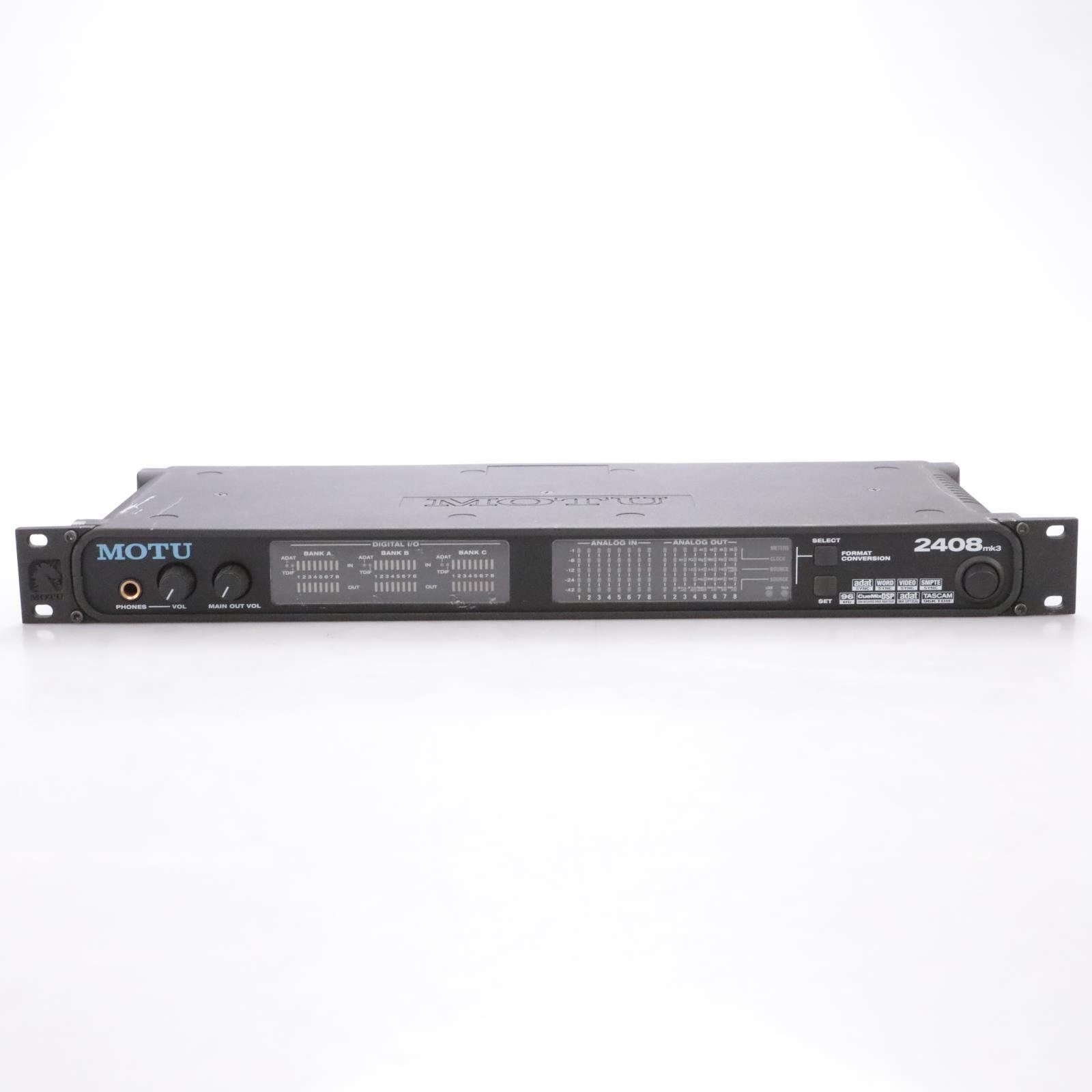 Motu 2408mk3 Audio Interface w/ PCI-424 DSP Interface Card 2408 mk3 mkIII #44266