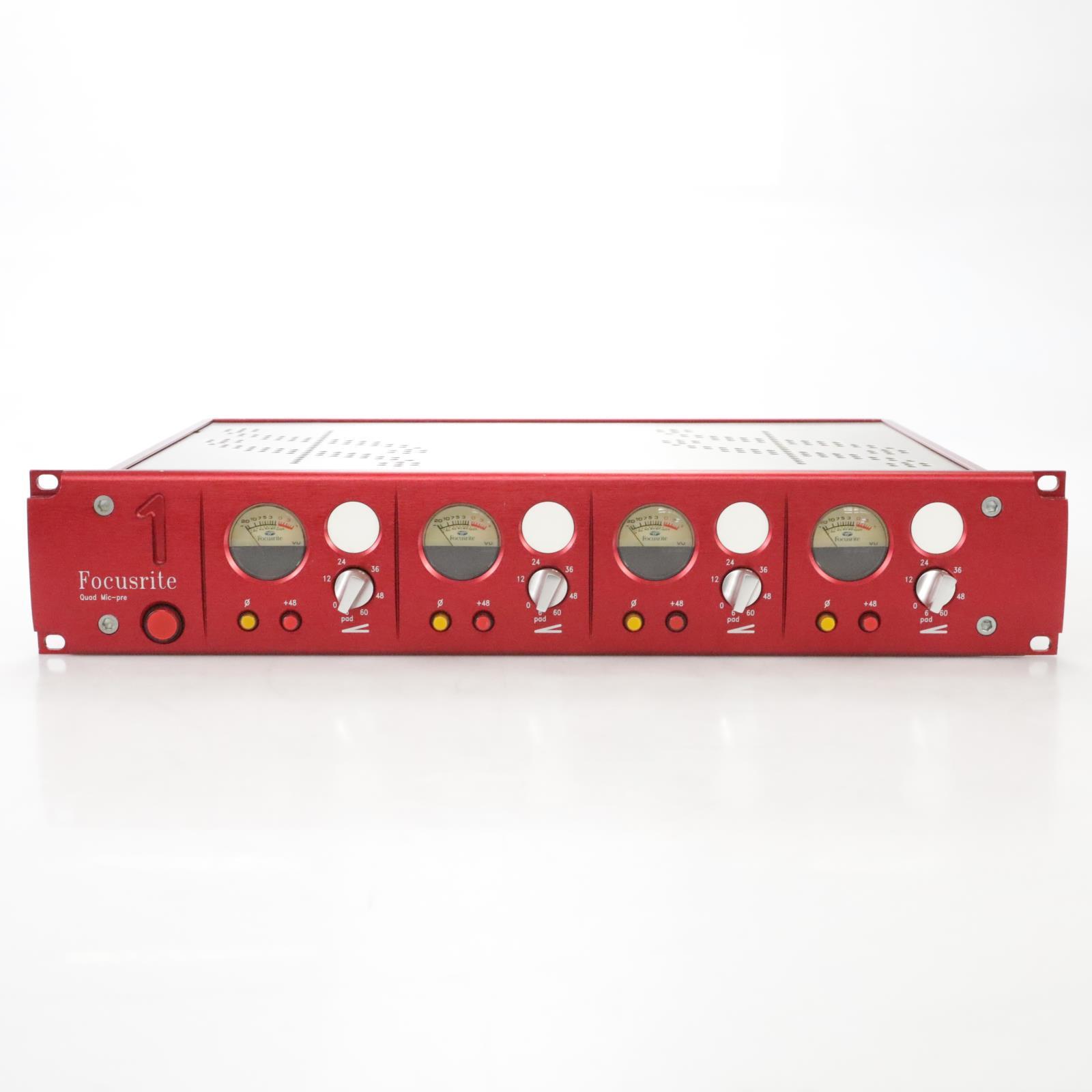 Focusrite Red 1 Quad-Pre 4-Channel Microphone Mic Preamp #44395