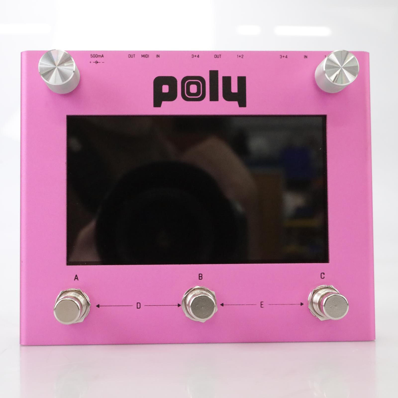 Poly Effects Beebo Digital Multi-Effects Reverb & Delay Pedal w/ Box Pink #44388