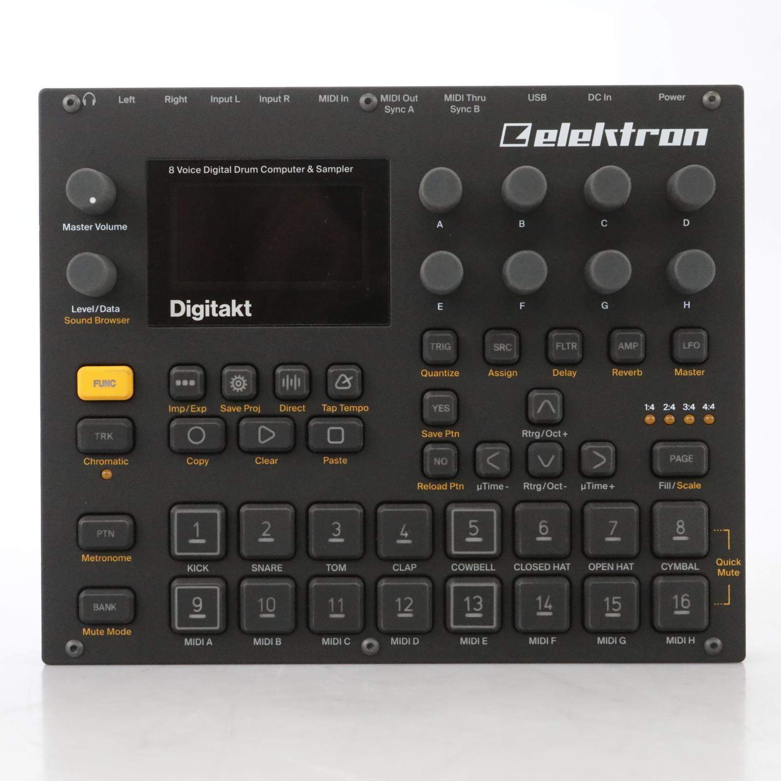 Elektron Digitakt 8-Voice Drum Machine Sampler / Sequencer #44389