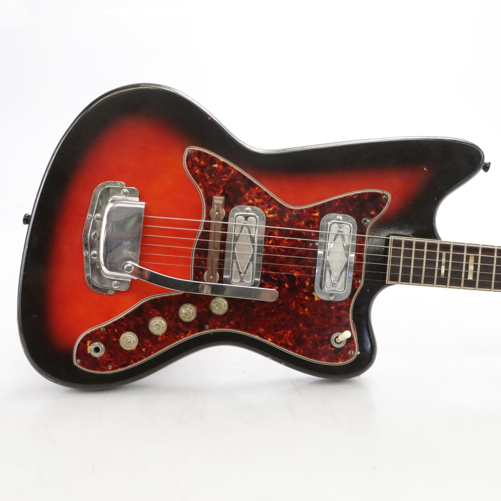 Vintage Silvertone Silhouette 1478 Electric Guitar w/ Case #44423