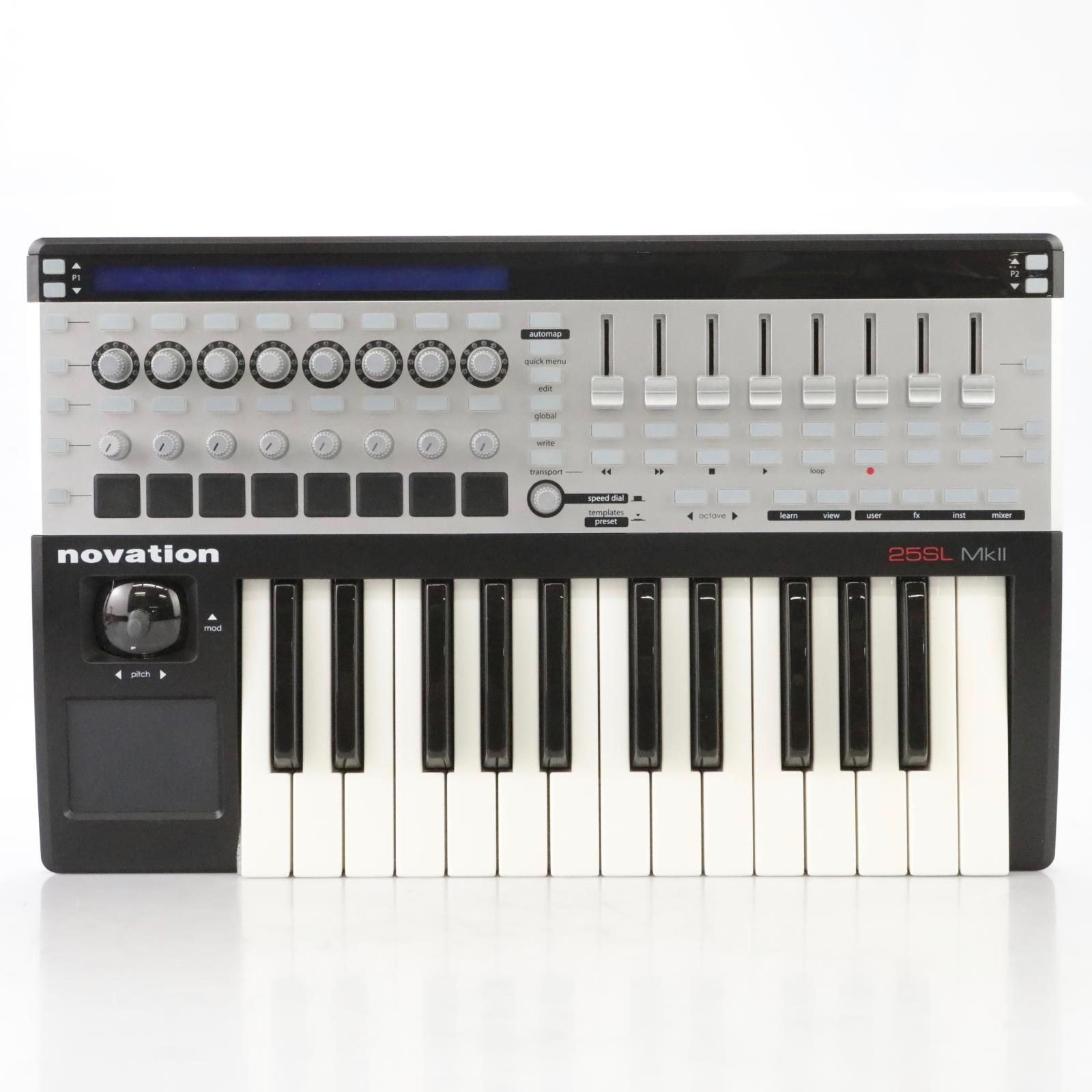Novation 25SL MKII 25-Note USB MIDI Controller Keyboard w/ Original Box #44424