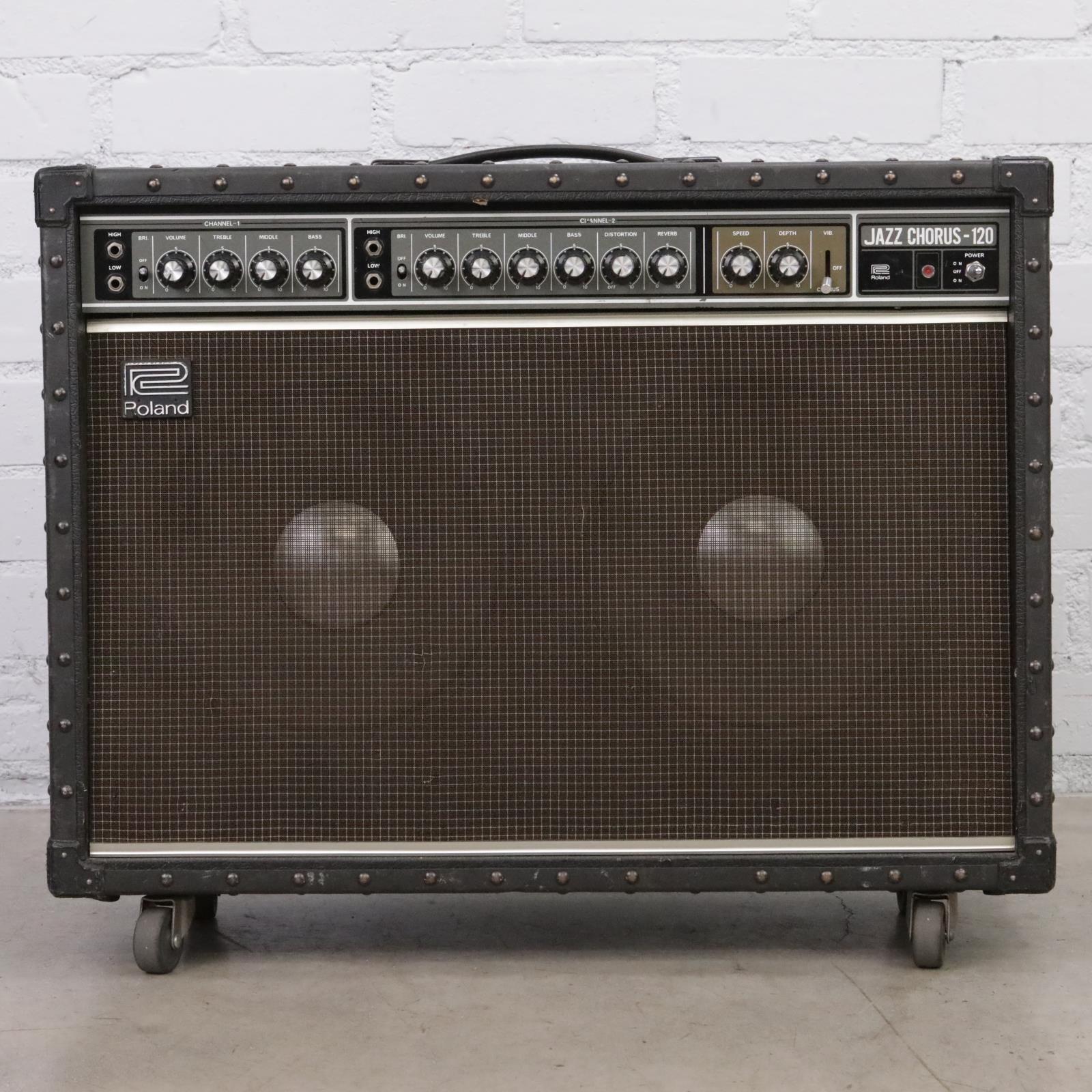 "1980's Roland JC-120 Jazz Chorus-120 2x12"" Stereo Combo Amp w/ JBL E120-8 #44462"