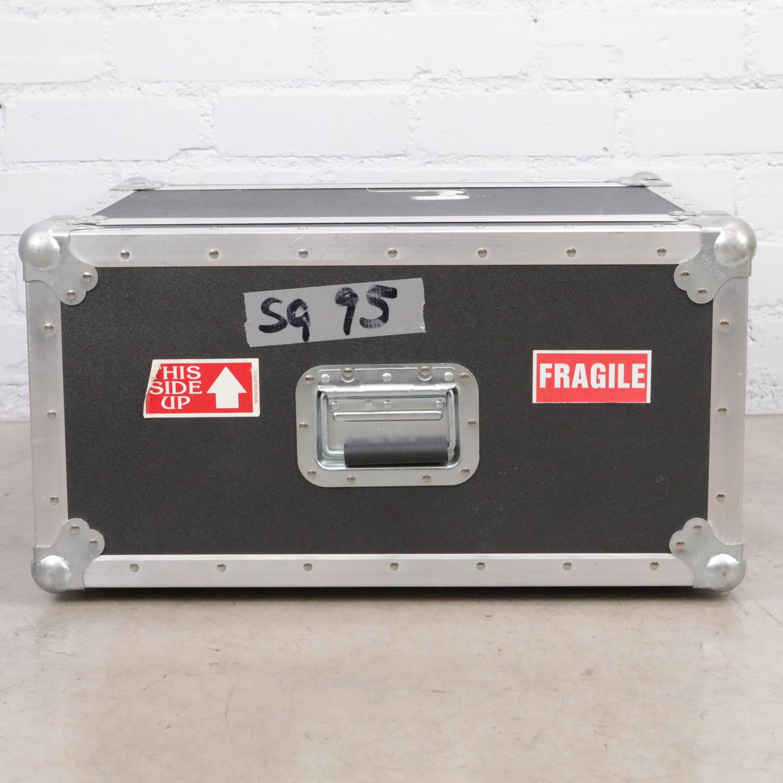A&S 4 Space 4U ATA Shockmount Rack Tour Road Case Owned By David Roback #44628