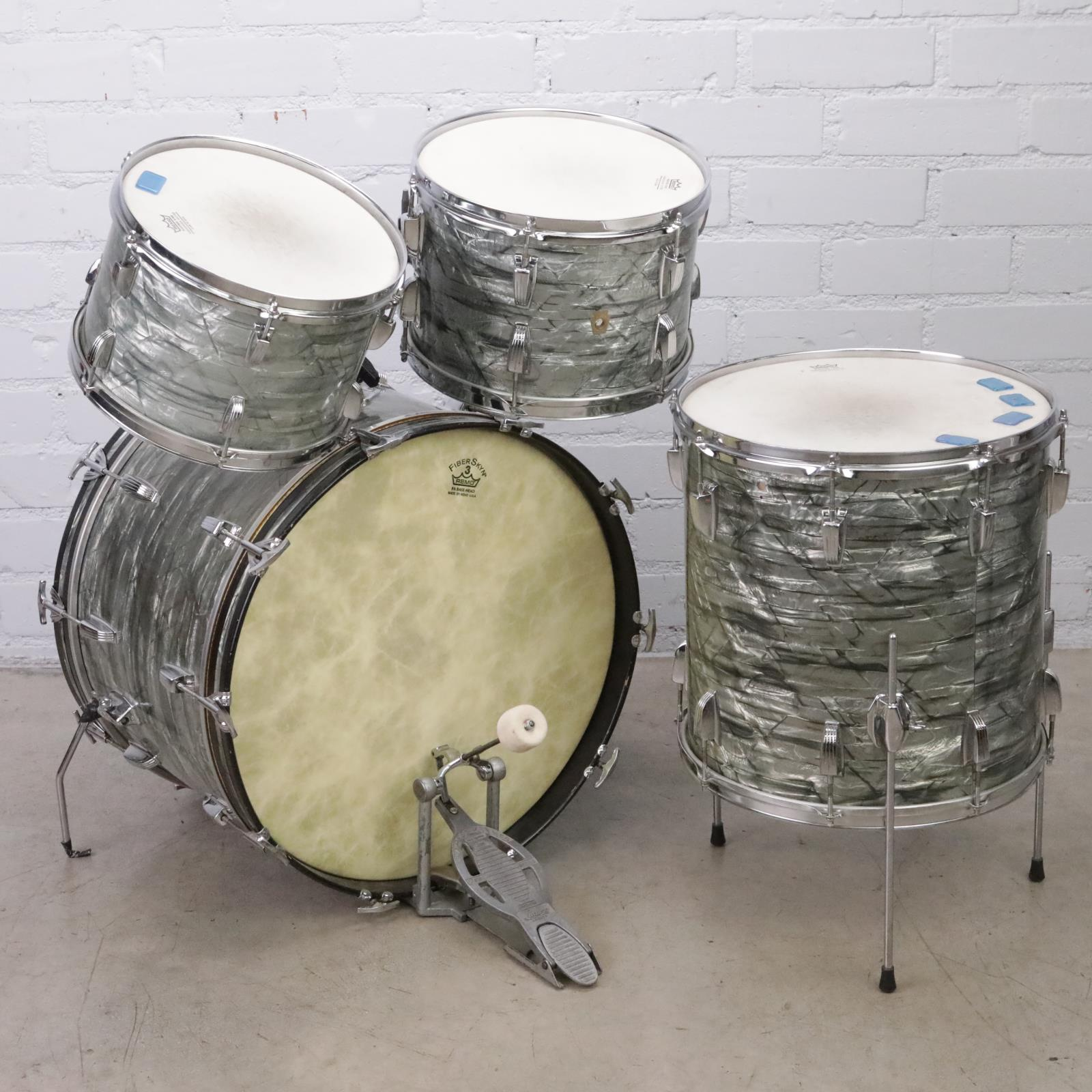 1966 Ludwig 4-Piece Sky Blue Pearl Drum Set Owned By David Roback #44765