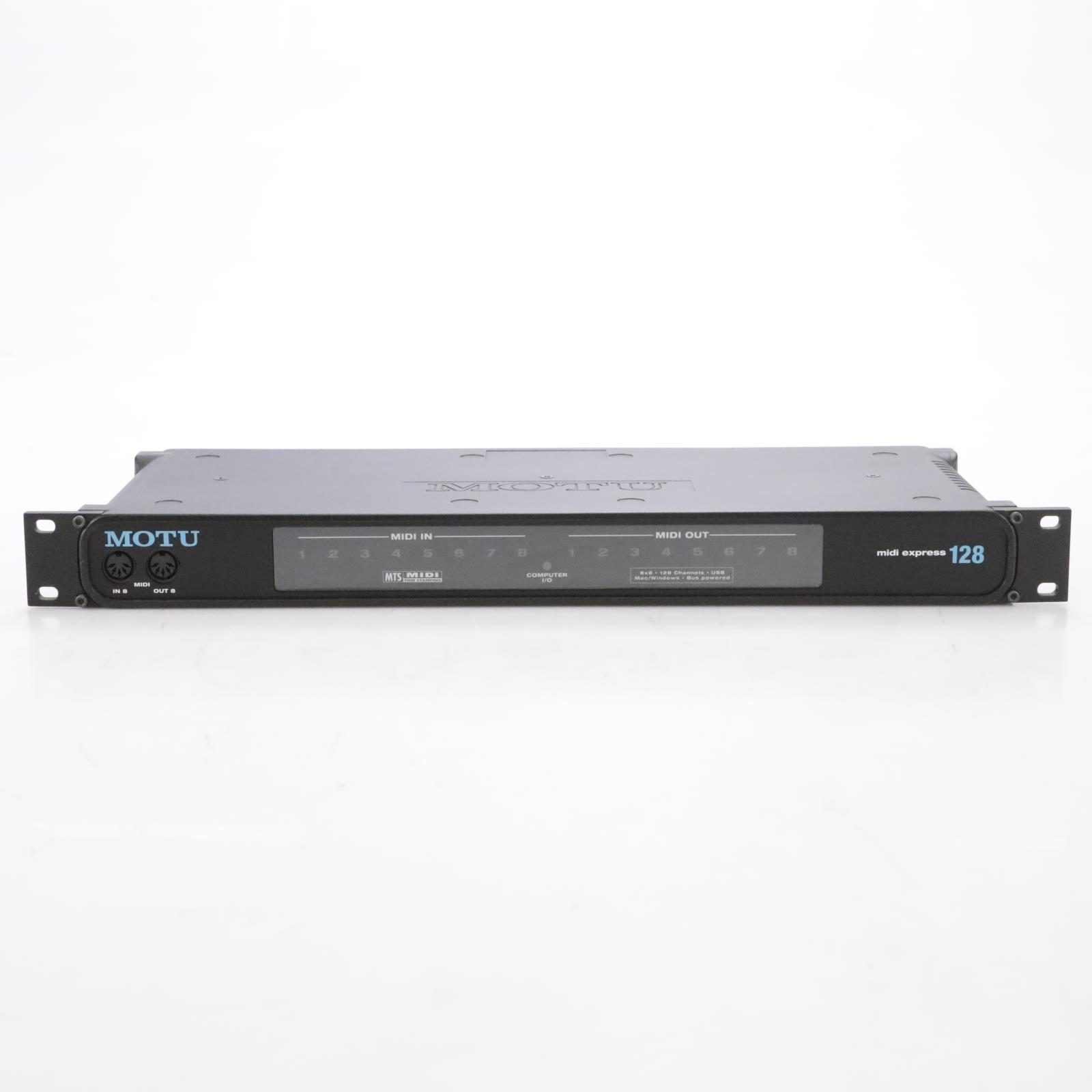MOTU MIDI Express 128 8x8 USB MIDI Interface w/ MIDI Cables #44898