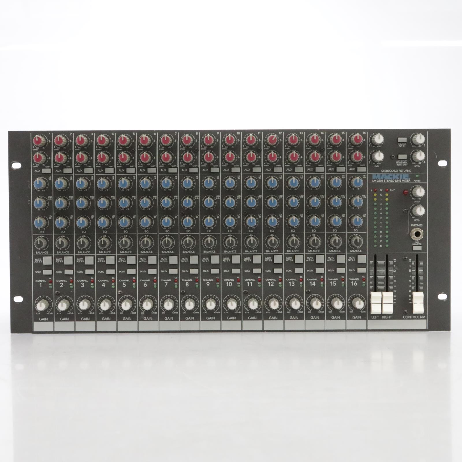 Mackie LM-3204 16-Channel Stereo Line Mixer Rack #44877