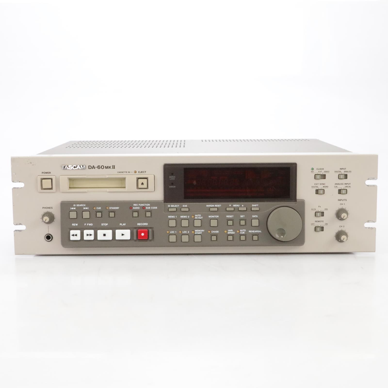 Tascam DA-60 MKII Professional Digital Audio Tape DAT Recorder #44940