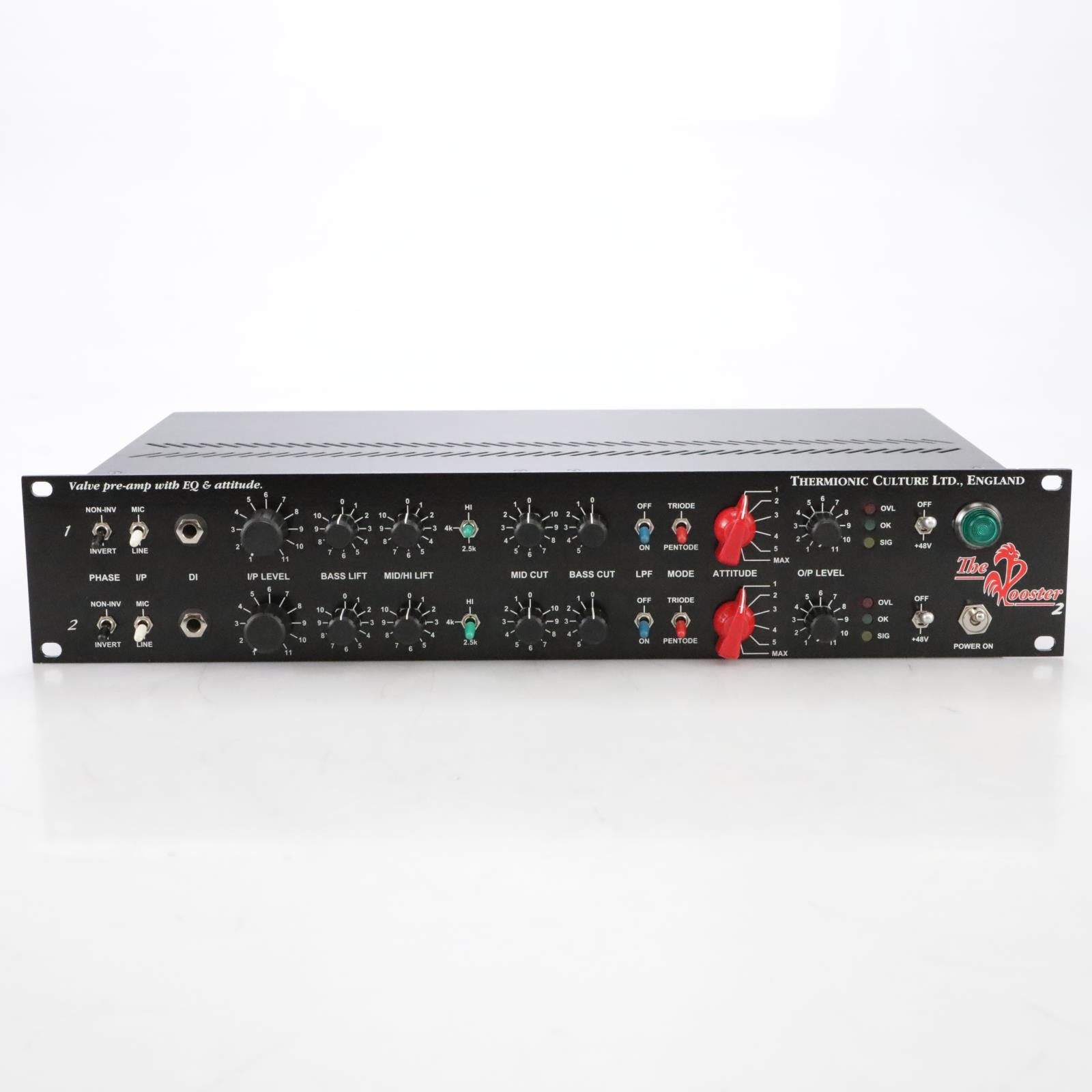 Thermionic Culture The Rooster 2 Two-Channel Mic Preamp w/ EQ #44974