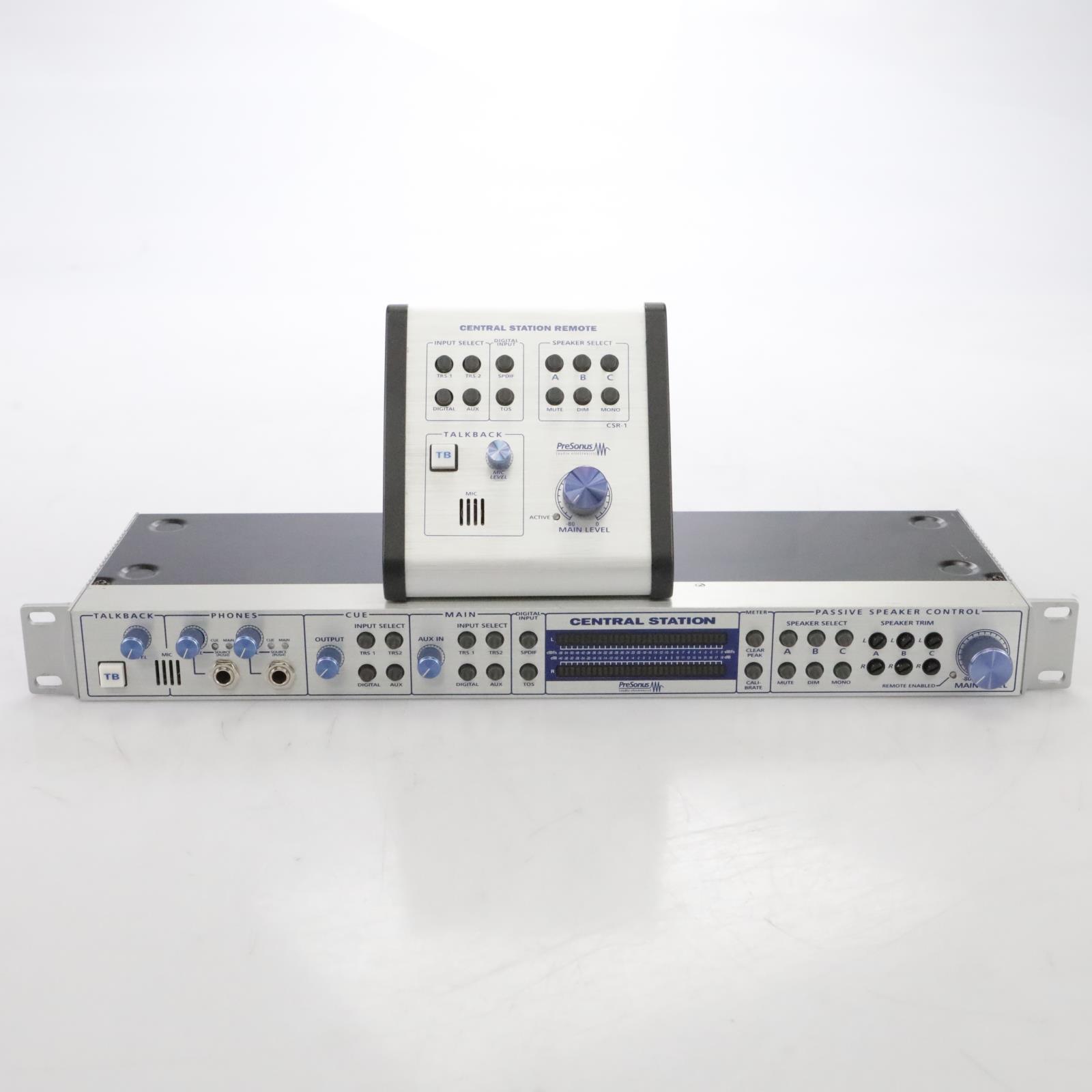 Presonus Central Station Monitor Control System w/ Box & Remote #44899