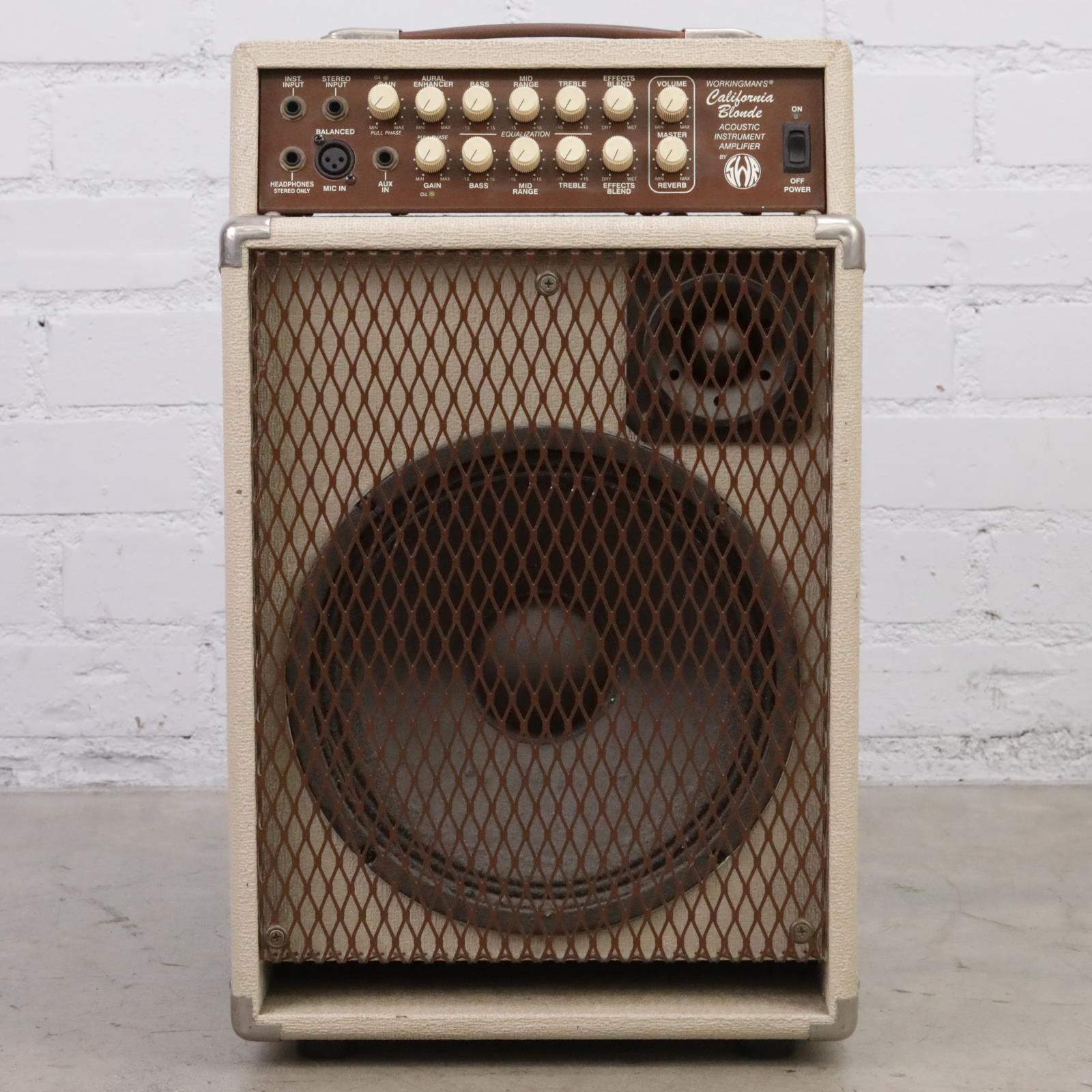 "SWR Workingman's California Blonde 2-Ch 1x12"" Acoustic Guitar Combo Amp #45099"