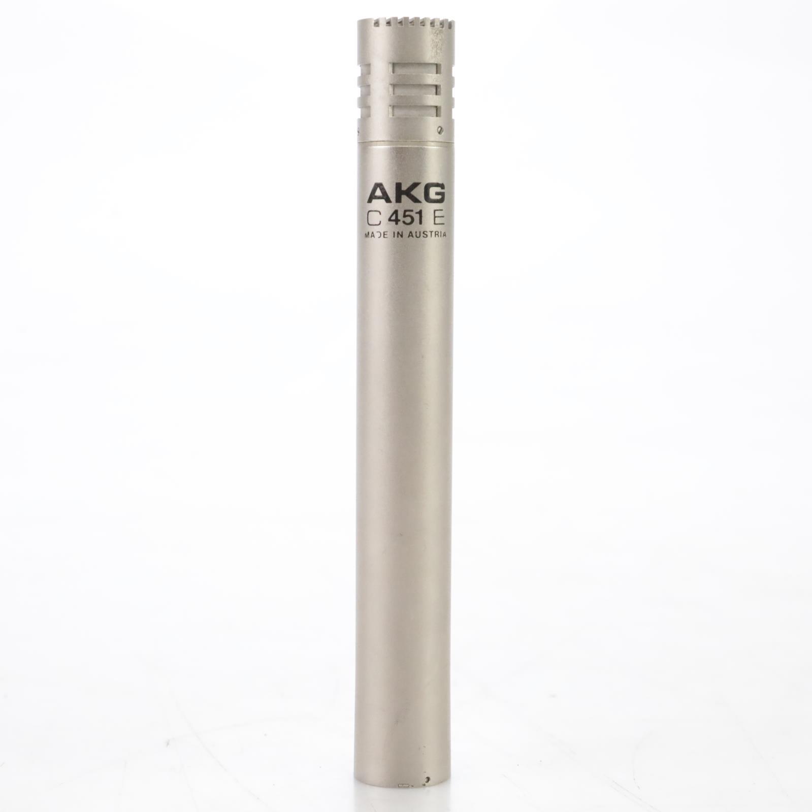 AKG C 451 E Condensor Microphone & Shure A15RS Response Filter C451E #45062