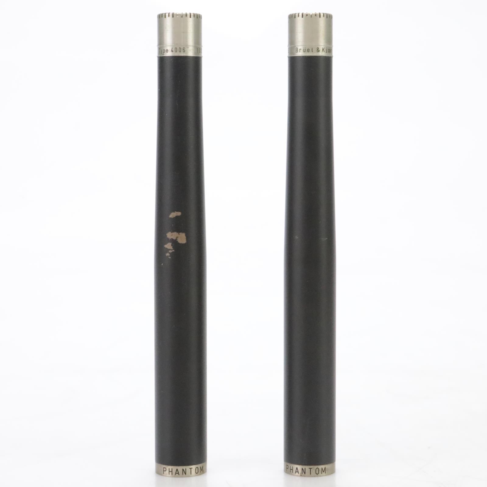 2 Bruel & Kjaer 4006 Omnidirectional Condenser Microphones w/ Cases #45054